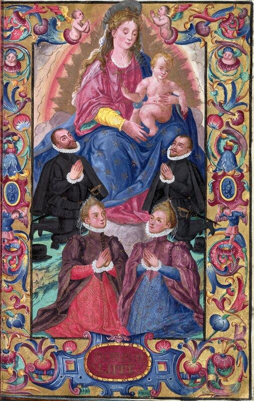 La Virgen con el Niño y la familia González Becerra