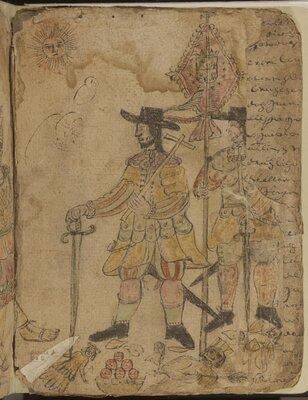 Codices in the Genaro García Collection, 1500-1599. Fragment of Aztec manuscript.