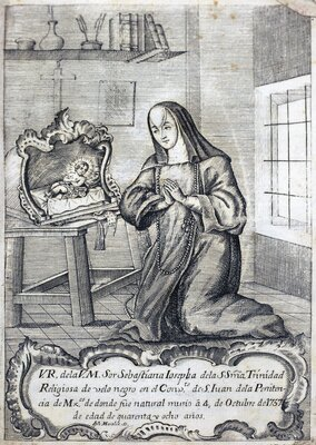 """""""Venerable retrato de la Venerable Madre Sor Sebastiana Josepha de la Santísima Trinidad"""""""