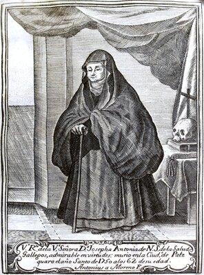 """""""Venerable retrato de la Venerable Señora Doña Josepha Antonia de Nuestra Señora de la Salud Gallegos"""""""