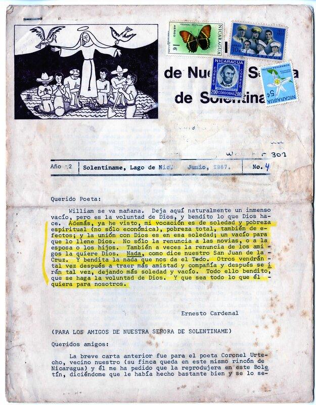 """""""Boletín de Nuestra Señora de Solentiname"""""""