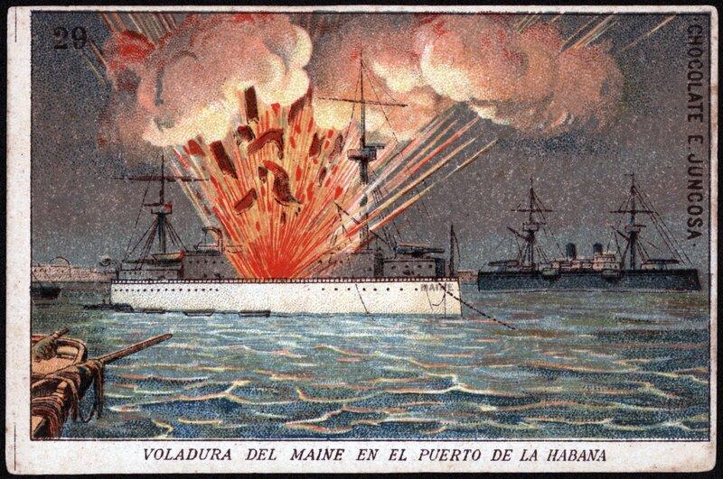 """""""Voladura del Maine en el Puerto de la Habana"""""""